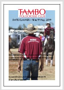 Tambo BTRC Origin in the outback save the date