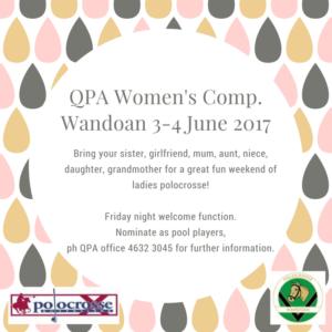 QPA Women's Comp. 2017Wandoan 3-4 June